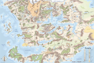 Map of The Forgotten Realms.