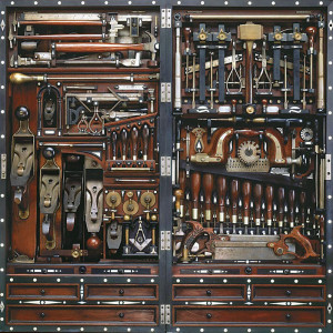 A MASTER woodworker's toolchest.