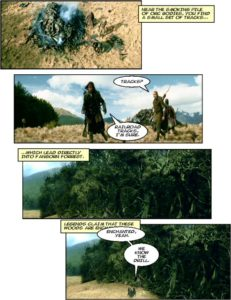 "A page from ""DM of the Rings"", a parody of Peter Jackson's interpretation of J.R.R. Tolkien's ""Lord of the Rings: The Fellowship of the Ring"""